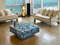 Blue Agate Centre Table