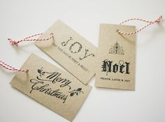 Free Printable Christmas Tags by Three Eggs Design (downloadable)