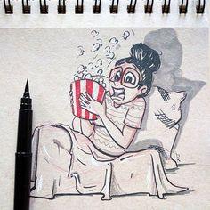 #inktober2016 - day 13 - SCARED  #sketchbook #bhairaviart #sketching #penandink #inking #inksketch #artistsofinstagram #drawing #art #inktober #kuretakeinktober2016 #sketchzone #sketches #quicksketch #quickstudy #sketchaday #illustration