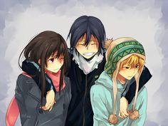 Hiyori, Yato y Yuki (Noragami) Noragami Anime, Yato And Hiyori, Anime Manga, Anime Art, Ghibli, Tous Les Anime, Otaku, The Darkness, Yatori
