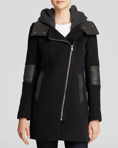 Andrew Marc Corey Asymmetrical Zip Coat from Bloomingdale's on Catalog Spree
