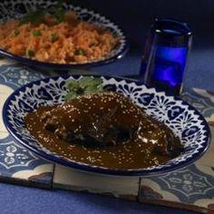 Mole poblano tradicional   also: http://allrecipes.com.mx/receta/775/mole-poblano.aspx