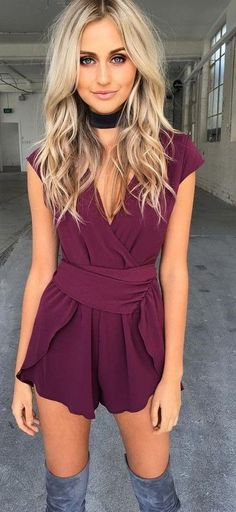 #summer #warm #weather #outfitideas |  Bordeaux Romper