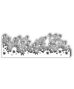 memory box snowflake border die -