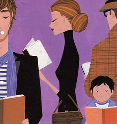 Reading is fashionable / Leer esta de moda (ilustración de Jordi Labanda)