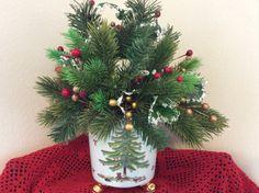 Christmas ceramic planter ceramic planter by StylishDecorbyGClark