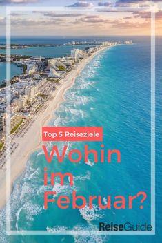 Du willst im Februar in die Sonne? Hier sind unsere 5 Reiseziele, die auch im Februar einen Badeurlaub möglich machen. Manche sind gar nicht soweit weg. #reiseinspiration Wanderlust, Beach, Water, Travelling, Outdoor, Best Holiday Destinations, Gripe Water, Outdoors, The Beach