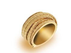 From the Marco Bicego Cairo Collection, this is an 18K Yellow #Gold Seven Strand #Ring.  #jewelry