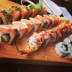 Sushi platter!! Citrus?
