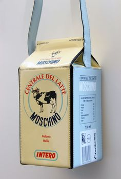 Moschino milk carton purse