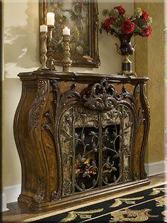 Cognac Rococo Electric Fireplace