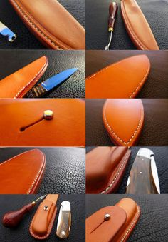 Leather Knife Holder made by Arno Buck! The cleanest leather worker out there.