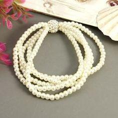 Plastic Pearl Bead Bracelet
