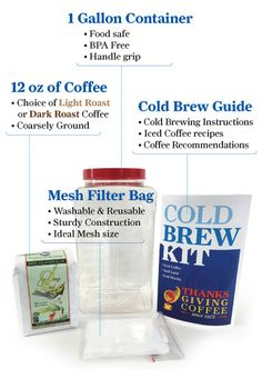 Cold Brew Kit – Thanksgiving Coffee Company Online Store