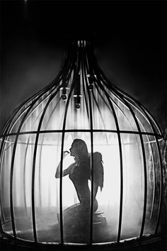"""© David Hickey. """"Caged bird Janelle"""". S)  #photography #Angel"""