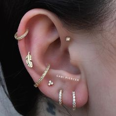 Is it gold you want Matching study with gold jewelry and titanium . - Is it gold you want Matching study with gold and titanium gold ✨ jewels. Helix Piercing w - Innenohr Piercing, Spiderbite Piercings, Ear Peircings, Bellybutton Piercings, Front Helix Piercing, Unique Piercings, Helix Piercing Jewelry, Helix Ring, Forward Helix Piercing