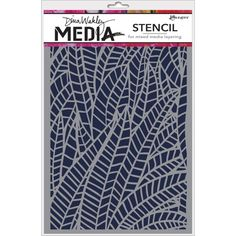 Add gorgeous dimension and design to your project using the Jungle Stencil by Dina Wakley Media for Ranger Ink. Included in the package is one stencil, which measures approximately 6 x