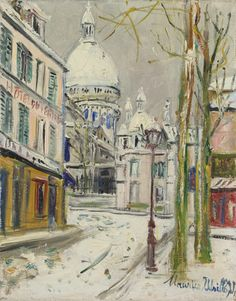 Maurice Utrillo Painting of Sacre Coeur,  SOLD at auction for 68,500 USD