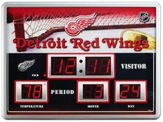 """Detroit Red Wings Clock - 14""""x19"""" Scoreboard"""