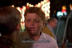 One of the best lines from one of the best movies ever! How many times have I seen the Sandlot. Tv Quotes, Movie Quotes, Funny Quotes, Os Goonies, Best Movie Lines, Killing Me Smalls, The Sandlot, Sandlot Quotes, Childhood Movies