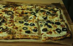 A Starch Free Cookbook: Cauliflower Crust Pizza with White Sauce