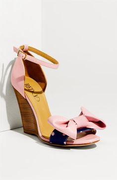 Valentino Pink bow and Blue Polka dot wedges!!! Love them! I only wish the wedge was pink as well.