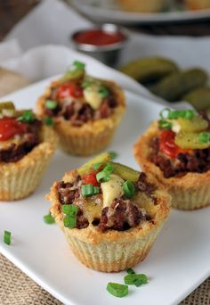 Perfect for the upcoming #superbowl - Keto Cheeseburger Muffins. Shared via http://www.ruled.me/