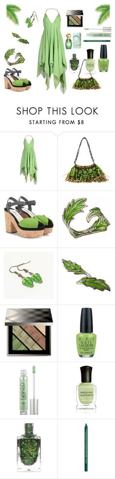 Spring Green Sleeveless Dress by siriusfunbysheila1954 on Polyvore featuring Richmond X, Prada, Jamin Puech, Bernard Delettrez, Burberry, Urban Decay, NYX, Annick Goutal, OPI and Deborah Lippmann