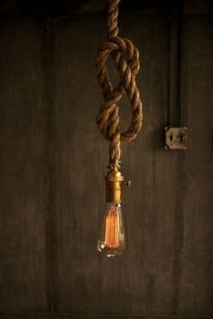 Items similar to Chandelier Lighting Industrial Light Hanging Light Hanging Lamp - Rustic Rope Design on Etsy Led Rope Lights, Hanging Lights, Lamp Design, Lighting Design, Rope Lamp, Lamp Cord, Industrial Style Lighting, Modern Industrial, Modern Lighting