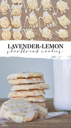 Full of zesty lemon flavor, these beautifully rich Lavender-Lemon Shortbread Cookies are little bursts of summer with every bite. Tea Recipes, Baking Recipes, Cookie Recipes, Dessert Recipes, Lemon Shortbread Cookies, Lavender Shortbread, Lemon Tea Cookies Recipe, Lavender Scones, Lavender Cake