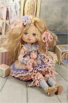 Купить Тутси . Кукла авторская коллекционная - кремовый, шебби, шебби-шик, шебби шик, бохо Ooak Dolls, Reborn Dolls, Art Dolls, Lifelike Dolls, Doll Maker, Pretty Dolls, Felt Animals, Doll Clothes, Sewing Projects
