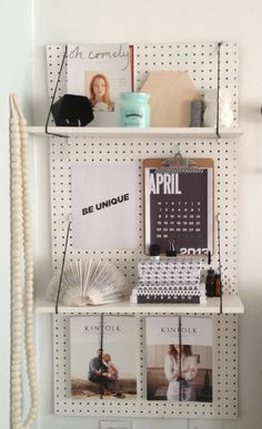 DIY - peg board shelf