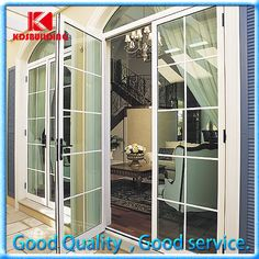 China Top Quality Aluminum Powder Coated Casement Door with Grill Design…