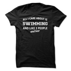 6450e410 Funny All I Care About Is Swimming T Shirt Designs Limited Edition! Each  item is