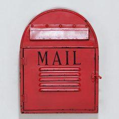 Mailbox Wall Decor at Cost Plus World Market >> #WorldMarket Vintage Americana Collection