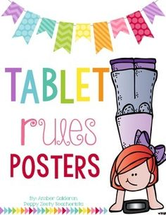 Printer friendly bright posters to reinforce technology in the classroom. These rule posters have option for Tablet, iPad, AND Chrome-book! Ipad Rules, Classroom Websites, Flipped Classroom, Book Posters, Classroom Management, Behavior Management, School Hacks, Chromebook, Google Classroom