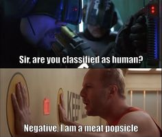 """Sir, are you classified as human?"" The Fifth Element"