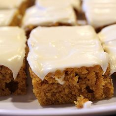 Pumpkin Bars DID THESE TONIGHT, MELT IN YOUR MOUTH. A MUST HAVE FOR THE HOLIDAYS THIS YEAR