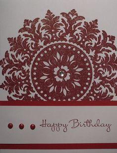 Birthday Card - Happy Birthday - Hand Stamped - White Matching Envelope