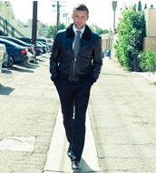 Leather with a suit