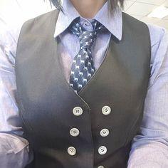 Hoy #corbata #capricornio y chaleco. Today #capricornio #tie and #vest #mystyle