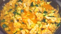 Courgette, Cauliflower and Chick Pea Curry Recipe - Nanny Jenni Curry Recipes, Veggie Recipes, Easy Vegetable Side Dishes, Healthy Vegetables, Jenni, Food Hacks, Cauliflower, Main Dishes, Good Food