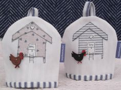 Henhouse Egg Cosies with Hen Button (limited edition) via Coast