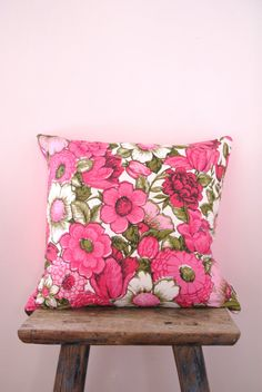 DITSY  cushion cover vintage pink flower by NeonVintageDesign, $29.00 pink flower, cushion covers, throw pillows