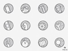 Zen icons vol 2: Free Set of 12 minimal outline Icons