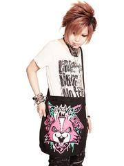 ReVeNGe 3WAY BLACK CANVAS Shoulder Bag Black x Aqua + Gradation + Pink / See more at http://www.cdjapan.co.jp/apparel/sexpot.html #harajuku #punk fashion