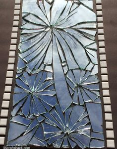 Broken mirror turned into beautiful Mosaic art
