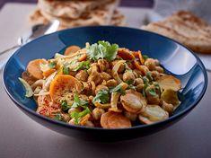 Curry de pois chiches et ses naans - Recettes