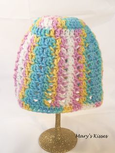 Crochet Baby Hat 6-8 months by Maryskisses on Etsy