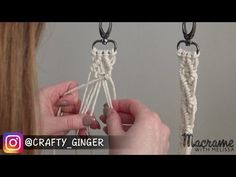#4 of 4: DIY Macrame Tutorial: Macra-Mini Key Chain for Beginners - YouTube